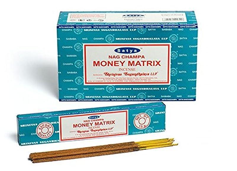 心理的に確かに錆びSatya. Nag Champa お金 マトリックス 線香 スティック アガーバティ 180グラム ボックス入り 12パック 各15グラム 箱入り 輸出品質