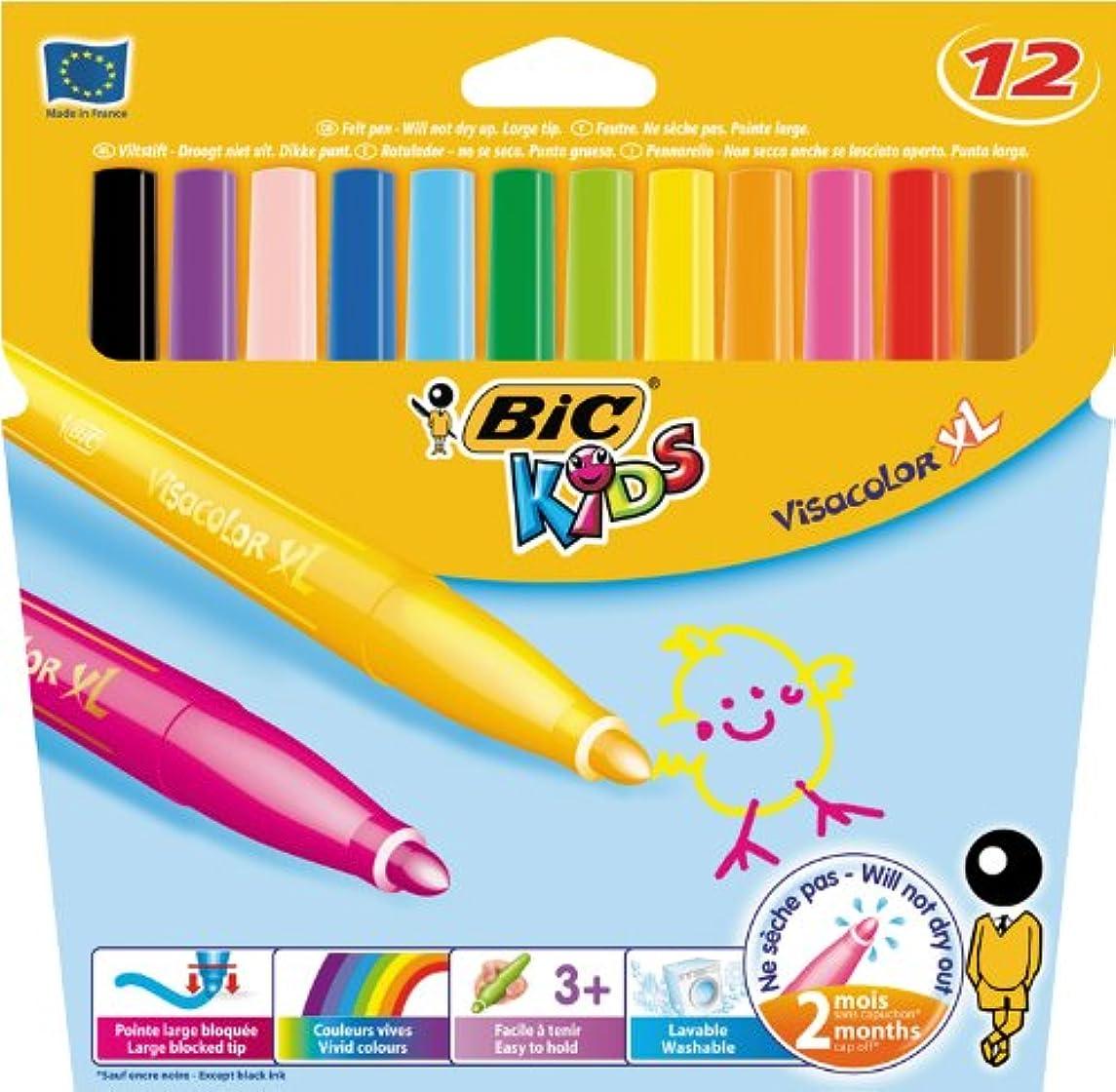 BiC Kids Visa XL Colouring Pens - Orange (Box of 12)