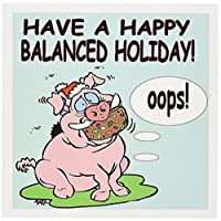 リッチDiesslins Cartoon日のクリスマスTCDC – Ira Monroes Pig Eating A Fruitcake – グリーティングカード Set of 12 Greeting Cards