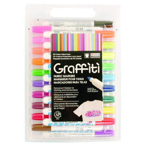 UCHIDA of America 560-30A 30-Piece Graffiti Fabric Marker