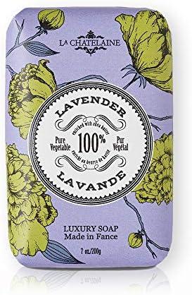 La Chatelaine Luxury French Bar Soap Natural Shea Butter Formula Lavender 7 oz product image