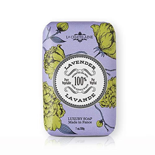 La Chatelaine Luxury French Bar Soap | Natural Shea Butter Formula (Lavender, 7 oz)