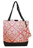 Ever Moda Damask Tote Bag (Coral Pink)