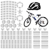 Comius Sharp Pegatinas Reflectantes para Bicicletas, 42 Piezas Adhesivos Reflectantes Pegatinas Reflectantes Kit para Cascos Bicicletas, Cochecitos, Sillas de Ruedas (A)
