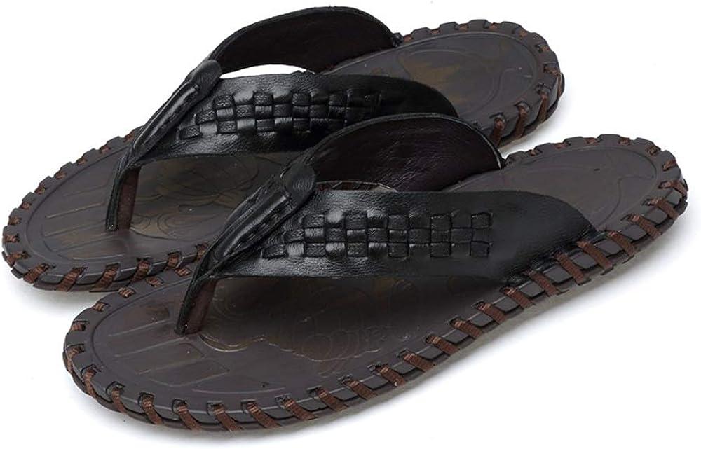 Muyin Flip Flops for Men Thong Sandals Knit Lightweight Shower Slippers Beach Casual Comfortable Shoes Microfiber Upper Non-Slip Wear Resistant