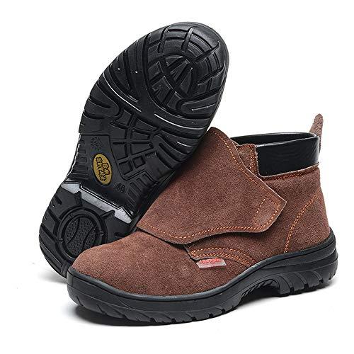 shoes Sicherheitsschuhe für Männer und Frauen, zertrümmernde Sicherheitsschuhe, rutschfeste Arbeitsschuhe mit abriebfestem Gummiboden, Outdoor-Sportschuhe, geeignet für Outdoor, BAU, Konstruktion