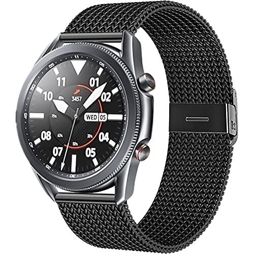 CAVN 22mm Armbänder Kompatibel mit Samsung Galaxy Watch 46mm / Galaxy Watch 3 45mm /Huawei GT 2 46mm Armband, Magnetschloss Edelstahl Metall Ersatzband Wristband Uhrenarmbänder für GT 2/Galaxy Watch 3