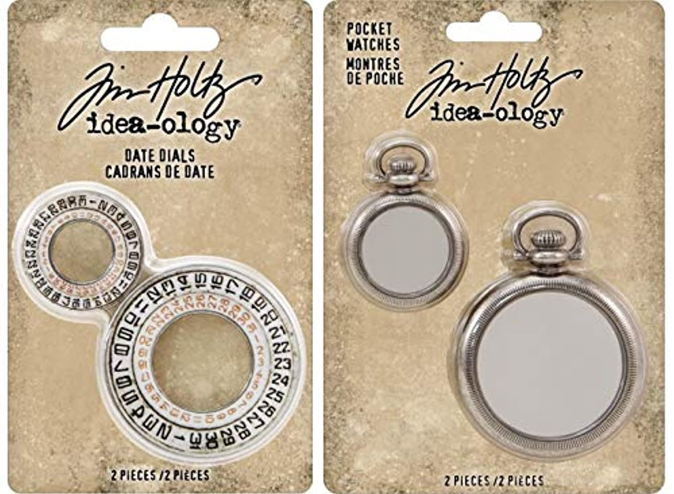 Tim Holtz Advantus - Date Dials and Pocket Watches - 2 Idea-Ology Items