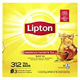 Lipton Tea Bags For A Naturally Smooth Taste Black Tea Can Help Support a Healthy Heart 24.9 Oz 312...