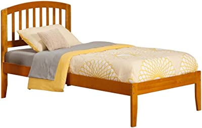Atlantic Furniture Eco-Friendly Twin Bed with Open Foot in Caramel Latte