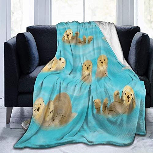 Manta De La Siesta Felpa Sofás Franela Colocar la Manta Watter como extensión/Colcha/Cubierta Suave,cálido y Acogedor 80'x60' Buen sueño Warm Lightweight Fleece Cozy Blanket
