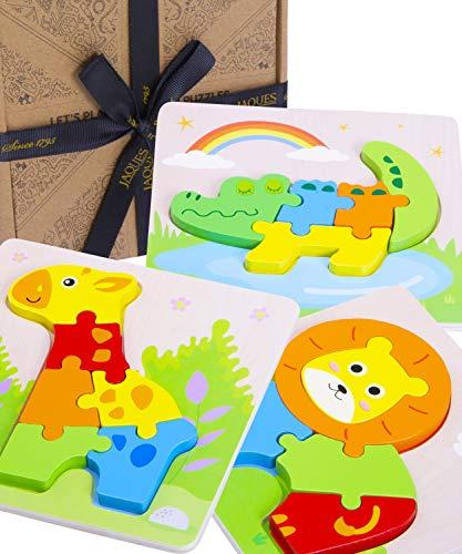 Jaques von London Tiere holzspielzeug puzzle ab 2 3 4 jahre – Neugierde auf die Welt wecken und Schlüsselkompetenzen für das Leben entwickeln - Qualität montessori holz spielzeug 1 2 3 jahre seit 1795