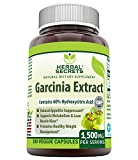 Herbal Secrets - Garcinia Extract Natural Dietary Supplement - 1,500 Milligrams - 180 Veggie Capsules - Promotes Healthy Weight Management - Kickstarts Metabolism