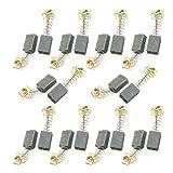 sourcingmap 10 Pares Escobillas de carbón de Motor eléctrico herramienta eléctrica de 12mm x 8mm x 5mm CB-64 para Makita
