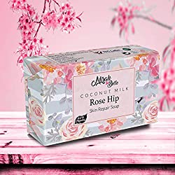 Mirah Belle Moisturising, Softening and Smoothening Skin Hand-made, Vegan and Cruelty Free Coconut Milk, Rosehip Soap Bar