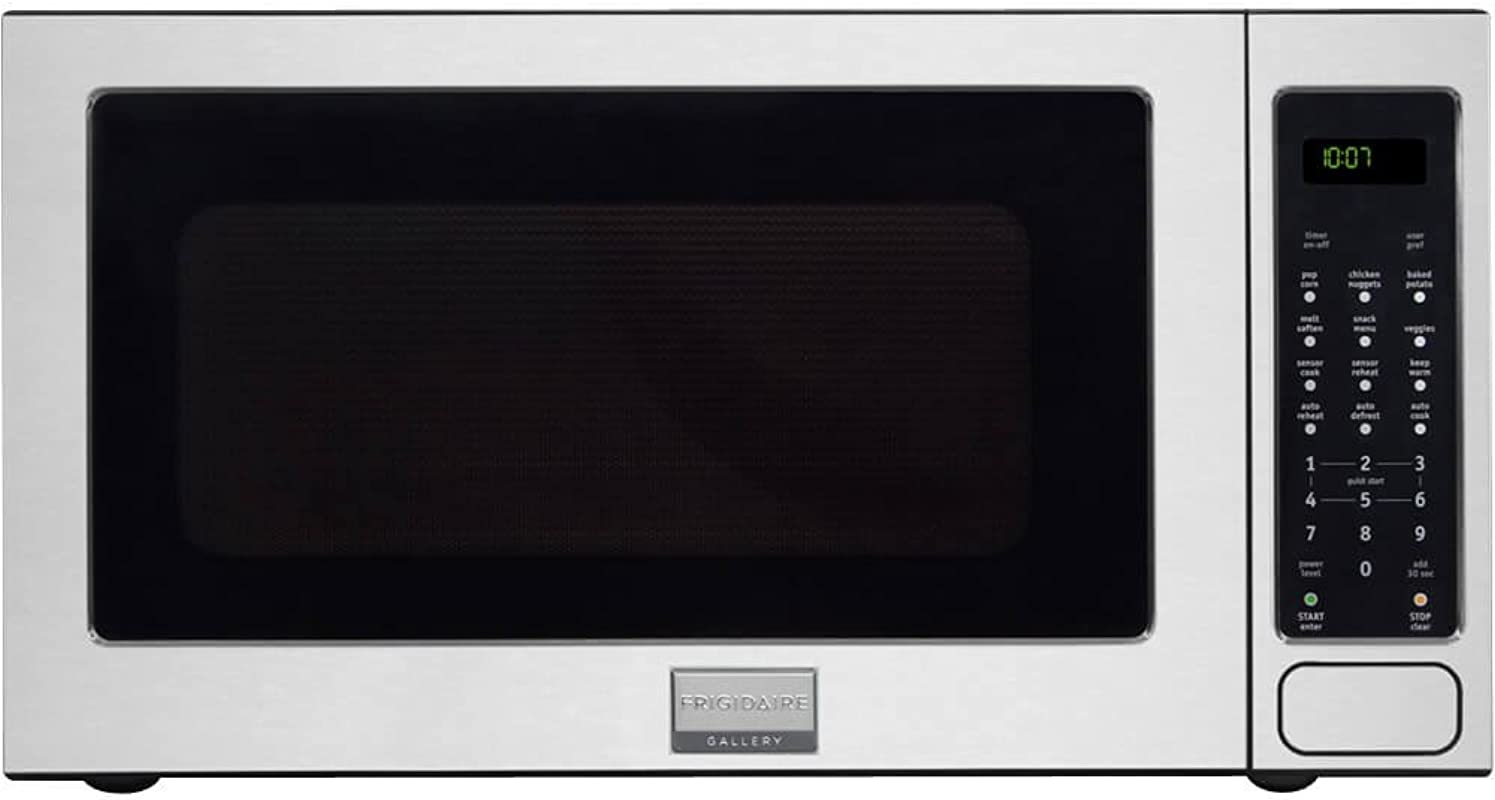 Frigidaire FGMO205KF Gallery Series 24 2 0 Cu Ft Capacity Built In Microwave Oven 1200 Watts 3 Auto Cook Options Sensor Cook 7 User Preference Options And One Touch Options In Stainless