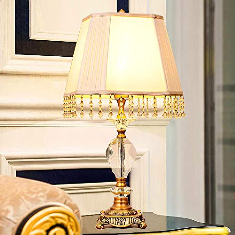JINSH Home Europäische minimalistischen Kristall Tischlampe LED Schlafzimmer Nachttischlampe Persönlichkeit kreative Klassische Wohnzimmer Studie Schlafzimmer Dekoration Lampe B07JQ6JJV9   Sale Online