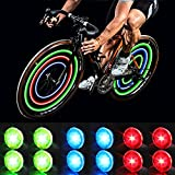 MapleSeeker Bike Wheel Lights Bike Spoke Lights with Batteries Included, Waterproof Bicycle Wheel Lights for Safe Cycling, Easy to Install Cool Bike Lights for Wheels (12-Pack Multi-Color)
