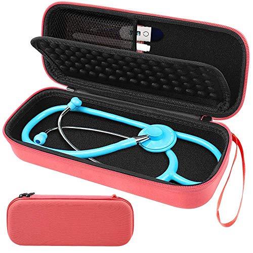 Stethoskop Tasche - Netztasche für Zubehör Innen mit Handschlaufe, für 3M Littmann Classic Stethoskop - Orange
