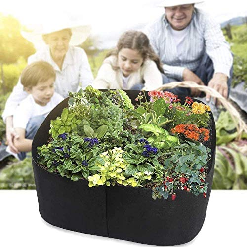 HCFSUK Bags Garden Growing Bags Bed Square for Vegetables Flowers Raised Fabric Raised Vegetable Planter Bed Square Garden Growing Bags Aeration Fabric Potato Plant