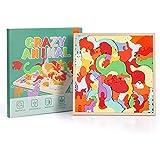 Fascol Puzzle en Bois, Puzzles pour Enfant Animaux Plus de 3ans avec Cadre, Jouets Empilables en Forme d'animal en Bois, Puzzle Jouet Enfants Éducatif à Encastrements,Cadeau pour Garçon Fille