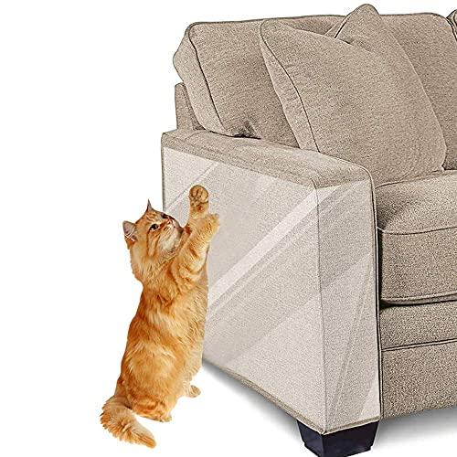 Haustier-Möbelschutz, transparenter Kratzschutz, Abdeckung zum Schutz von Polstermöbeln und Katzen, 2 Stück x 15 x 30 cm, transparent