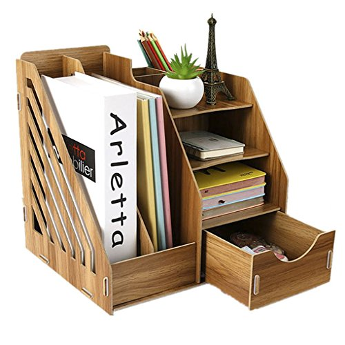 Schreibtischorganizer Holz DIY Tisch Organizer Aufbewahrungsregal Schreibtischbox Aufbewahrungsbox Ablagesystem für den Schreibtisch