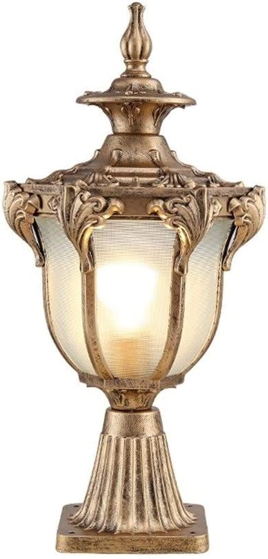 ZZYJYALG 1-Light trend rank Rustic Pastoral Portland Mall Luxury Garden Column Light Vill