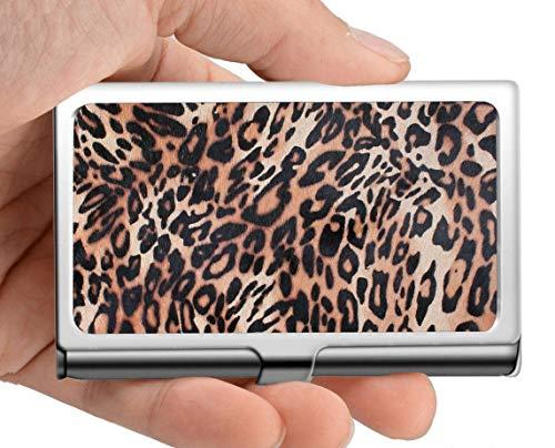 Portatarjetas de visita profesional, estuche/soporte de identificación de tarjeta de crédito para cabello de animales