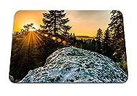 22cmx18cm マウスパッド (丘の木サンシャイン雪) パターンカスタムの マウスパッド