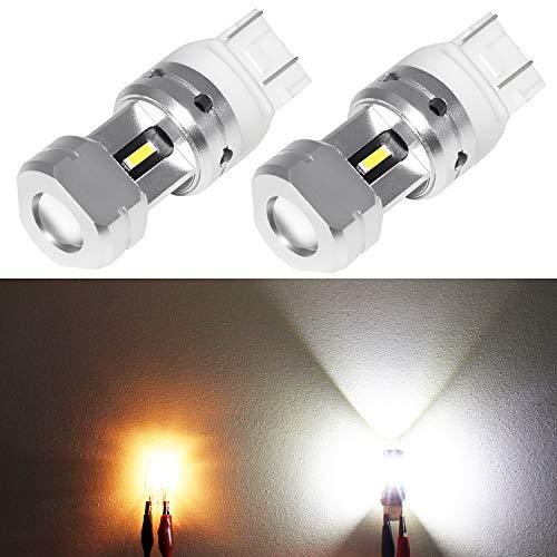 Phinlion 3600 Lumens 7443 7440 LED Backup Light Bulb Super Bright 7441 7444 LED Bulbs for Back Up Reverse Turn Signal Brake Tail Lights, 6000K Xenon White