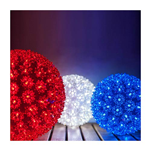 6' Starlight Sphere LED Christmas Light Ball Indoor Outdoor Holiday Party Lighting | Shironi (Red)