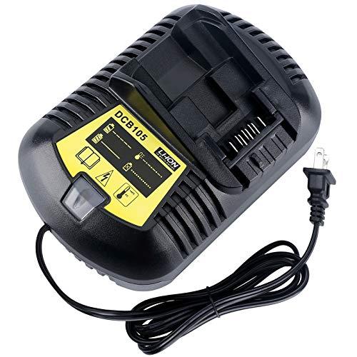 Lasica DCB105 12V/20V Battery Fast Charger Replacement for Dewalt 12V MAX & 20V MAX Lithium Battery DCB204 DCB205 DCB203 DCB201 DCB609 DCB120 DCB127 Dewalt Battery Charger DCB104 DCB107 DCB115 DCB112