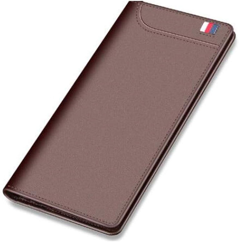 Wallet, Suitable for Men's Work Multi-Function Long Business Casual Fashion Wallet Purse, color, bluee, Size (19  1.8  9.2) cm (color   Brown)