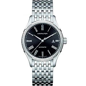 [ハミルトン] 腕時計 Valiant auto(バリアント オート) roman BLK metal H39515134 正規輸入品 シルバー