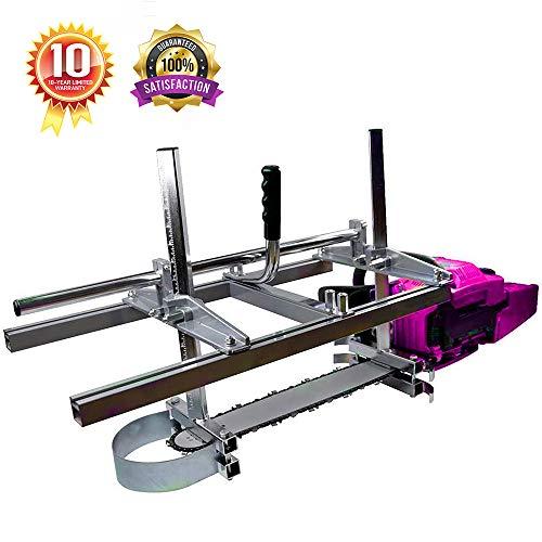 "TTF Chainsaw Mill Portable 36 Inch Chainsaw Mill Attachment Chainsaw Milling Guide Bar Chainsaw Mill Guide Sawmill(14""-36"")"