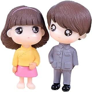 hwangli 2Pcs/Set Cartoon Doll Miniature Ornaments Garden Dollhouse Decoration Grey