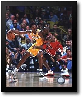 Michael Jordan & Kobe Bryant 1998 Action 12x14 Framed Art Print