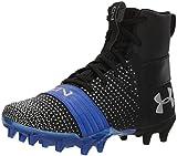 Under Armour Boys' C1N MC Jr. Football Shoe, Black (003)/Team Royal, 2.5