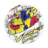 N/A Wanduhr Torn Club America Logo Runde Uhr Silent Home Dekorative Wanduhr Arabische Ziffern Indoor Home/Büro/Schule Uhr 9,8 Zoll