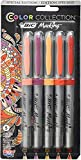 Set of 5 Bic Color Collection - Warm Color Special Edition - Ultra Fine Tip - Made in The USA