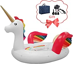 EOSAGA Unicorn Pool Float Party Bird Island - Unicorn Float with Air Pump and Carry Bag for6 People Giant Floats Use in Lake Island Ocean Pool (Unicorn)
