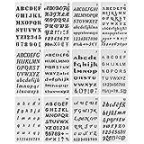 Mr. Pen- Letter Stencils, 12 Pack, 4 x 7 Inch, Alphabet Stencils, Letter Stencil, Lettering Alphabet Stencil, Stencils, Stencils Letters and Numbers, Lettering Stencils, Bullet Journaling Stencils