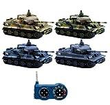 German Tiger I–RC R/C Mini tanque teledirigido, Tank, cadena Vehículo, balas, sonido, luz, nuevo, 1: 72, balas Simulación Sonido, iluminación, Nuevo
