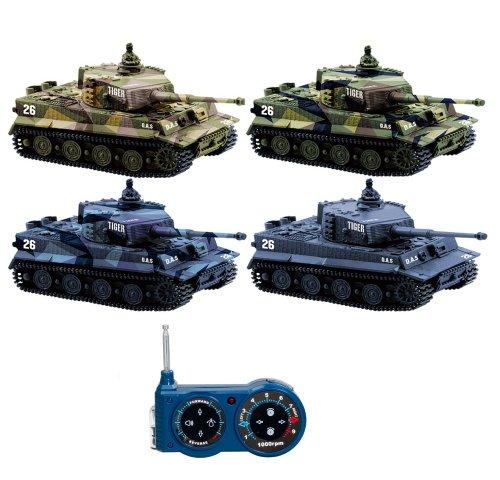 GERMAN TIGER I - RC R/C mini ferngesteuerter Panzer, Tank, Kettenfahrzeug, Schuss, Sound, Licht, Neu, 1:72,...