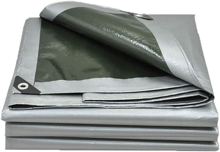 BJL Baches Bache Imperméable à l'eau Prougeection Solaire épaisse en Plastique Argent Poncho Bache Voiture Pluie Couverture Variété De Tailles ++ (Taille   4x6m)