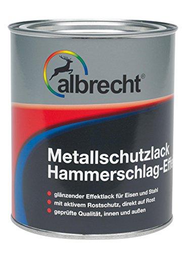 Lackfabrik J. Albrecht GmbH & Co. KG 3400606750001200750 Metallschutzlack Hammerschlag-Effekt 0012 dunkelblau 750ml