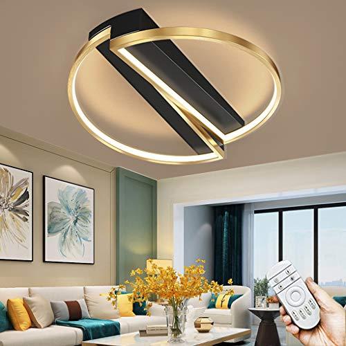 Lámpara De Techo Regulable 3000~6000K LED Con Control Remoto Pantalla De Aluminio Acrílico Lámpara De Iluminación Moderna Sala De Estar Dormitorio Comedor Oficina Pasillo Lámpara Colgante (Round)