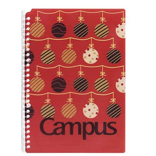 Cuaderno de Hoja Suelto Cuaderno B5, Regla de la Universidad, Folding 360 °, Tapa Dura, para Ideas De Regalo Chica Navidad Mujeres Trabajo Escuela Niños, Pequeño Lindo.Diario (Color : Red)