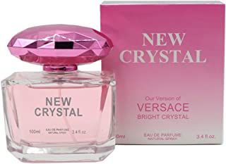 PINK CRYSTAL, Our Version of BRIGHT CRYSTAL BY VERSACE,Eau de Parfum Spray for Women, Perfect Gift, Vibrant, Night time & Casual Use, for all Skin Types,3.4 Fl Oz